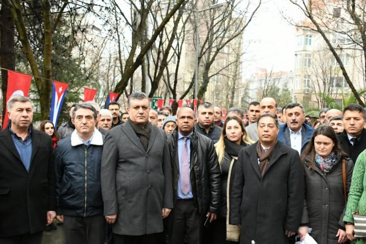 KÜBA'NIN ULUSAL KAHRAMANI JOSE MARTİ ESENYURT'TA ANILDI