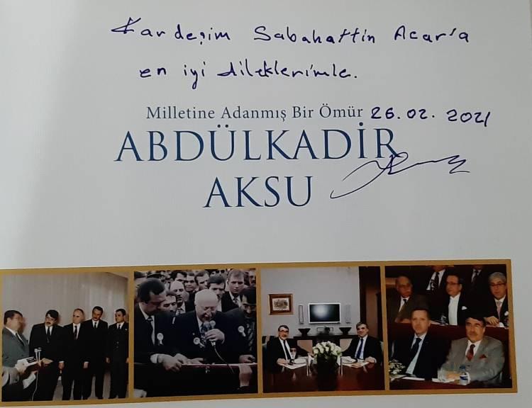 O BİR ÖRNEK DEVLET ADAMI ; Abdülkadir AKSU